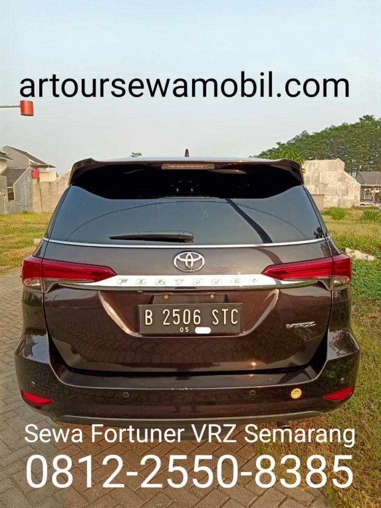 Sewa Fortuner VRZ Semarang Artour Belakang